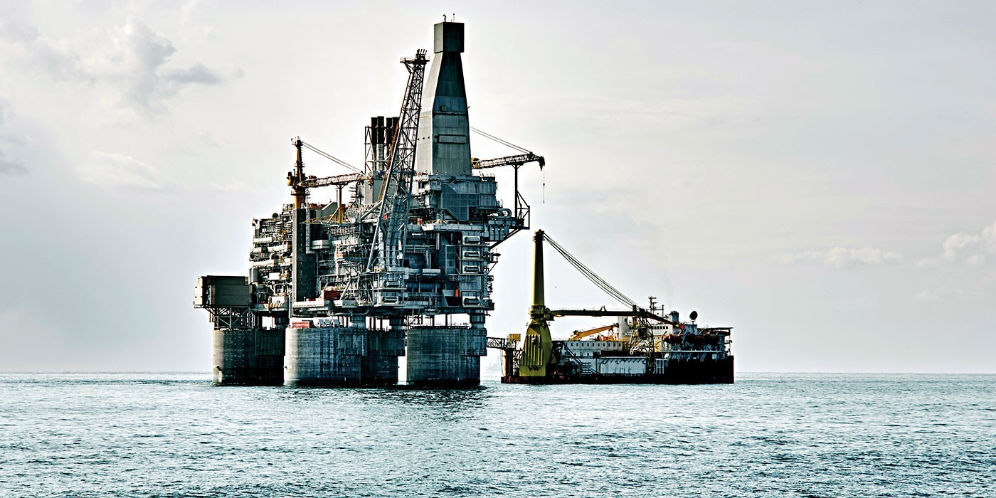 Marine and offshore oil rig