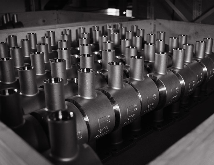 Ramén Ball Sector Valves in pallet