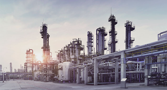 Chemical factory industry image