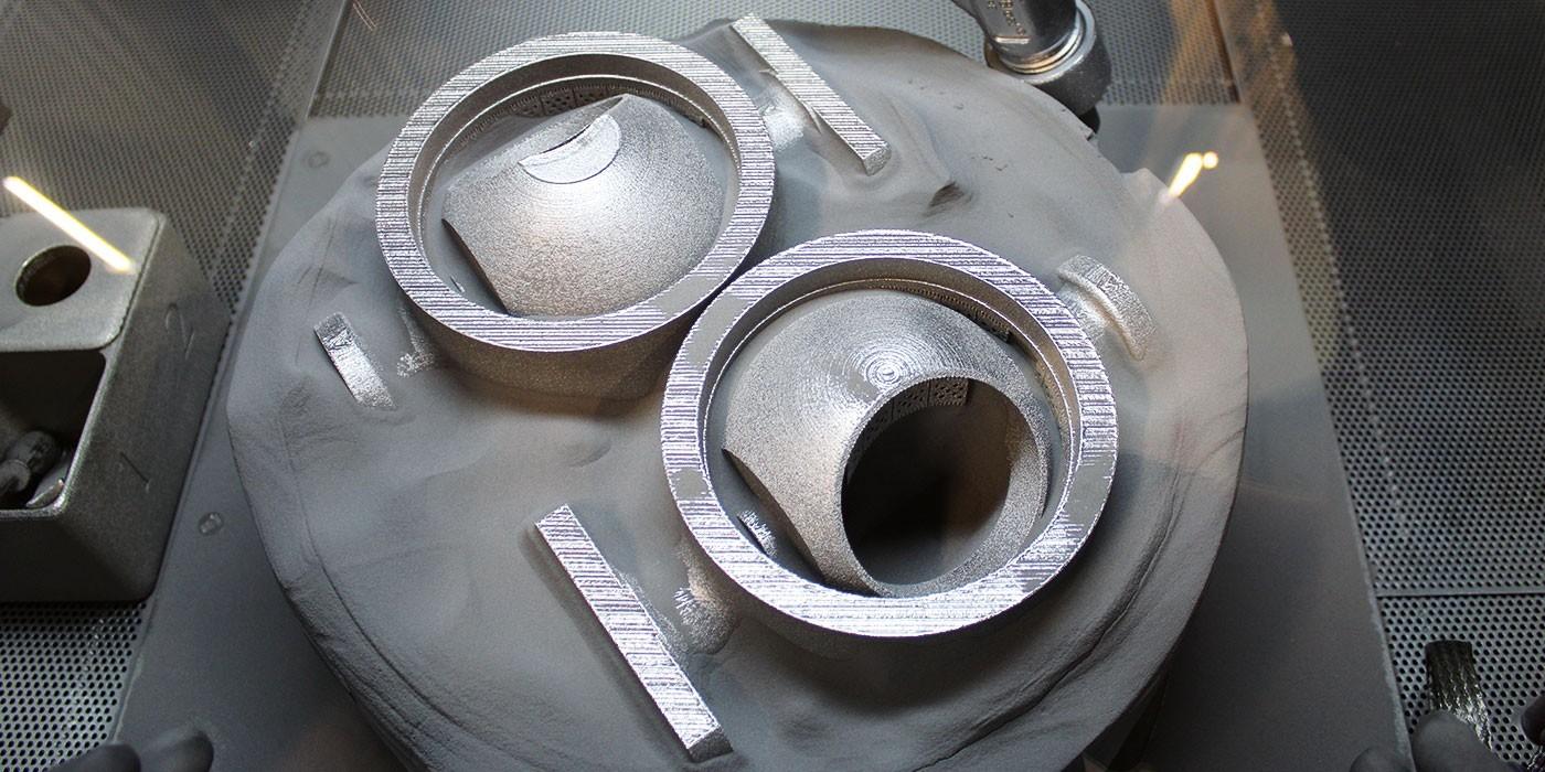 Ramén Ball Sector valves in titanium powder bed