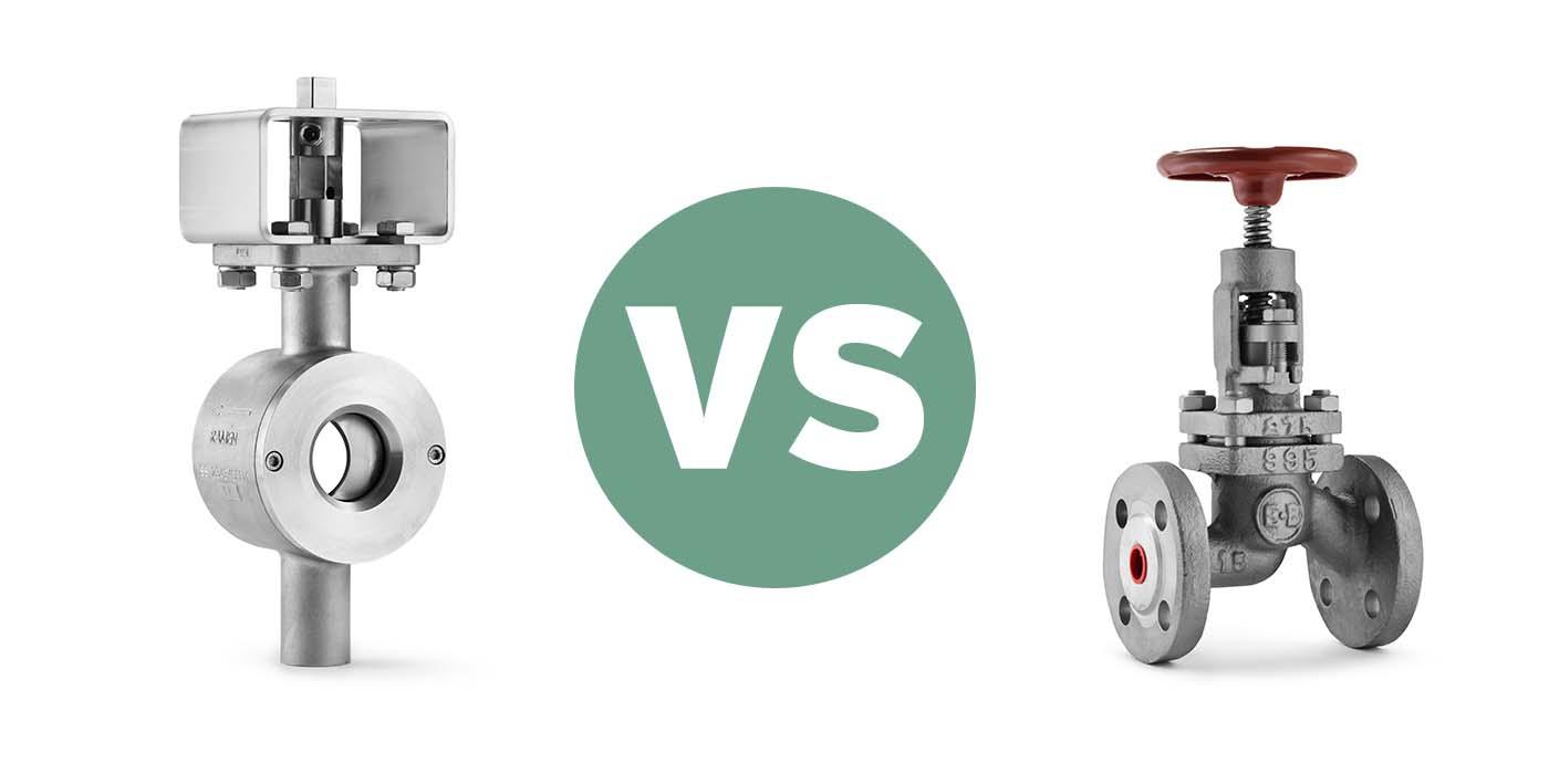 Technical comparison Ball Sector valves vs. Globe valves