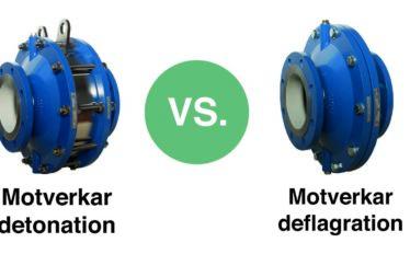 Vad är skillnaden mellan ett flamskydd mot deflagration och ett flamskydd mot detonation?